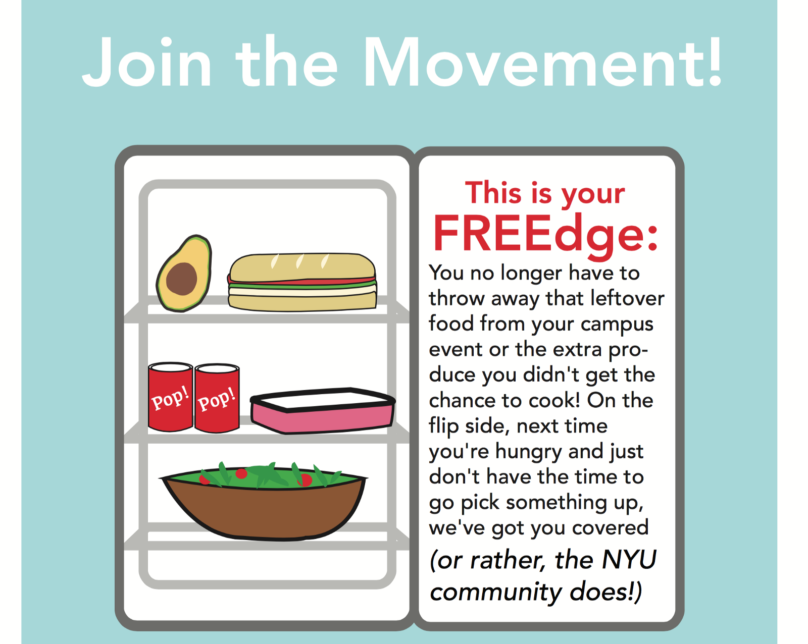Share Meals and NYU Freedge: When NYU Students Creatively Turn Food Waste Into Food Opportunity